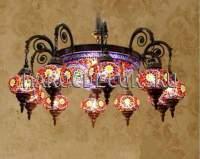 Люстра мозаичная в восточном стиле арт.HM-S-AV610