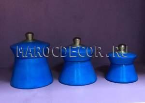Марокканские керамические шкатулки арт.TDL-20, ручная работа