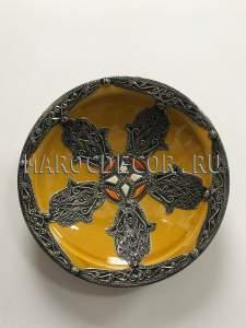 Марокканская декоративная тарелка арт.AS-63