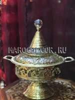 Марокканская конфетница арт.KR-26, цвет-золото