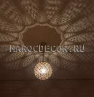 Подвесной марокканский светильник арт.Lant-92, ручная работа