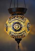 Одинарный светильник Мозаика арт. HM-S-AA130-11, желто-коричневый
