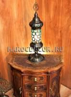 Лампа в восточном стиле арт.T-112-2B-8, цвет плафона-зеленый