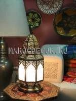 Марокканская настольная лампа-фонарь арт.Lamp-931, марокдекор