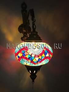 Восточный светильник из турецкой мозаики арт.WM-015T/3i, Турция