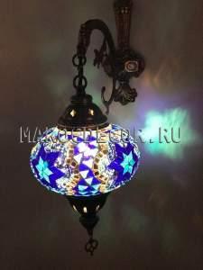 Восточный настенный светильник с турецкой мозаикой арт.WM-015T/3k