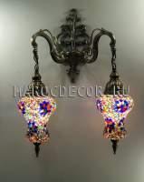 Восточный светильник из турецкой мозаики арт.WM-015T/3М