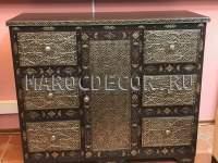 Марокканский комод с чеканкой арт.BR-11, этническая мебель