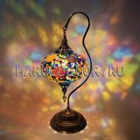 Лампа настольная с мозаичным плафоном 25см арт.ТМ-015/g