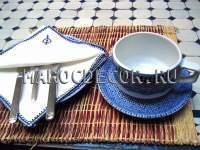 Чайная пара (чашка и блюдце)изображение Марокдекор