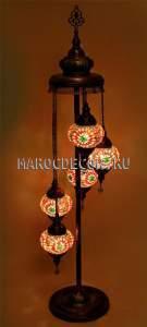 Восточная мозаичная лампа-торшер арт.FM-012/5h