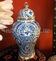 Марокканская ваза арт. VR-11, керамика, роспись, чеканка ручной работы,  восточный стиль