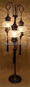 Лампа напольная-торшер в восточном стиле арт.FM-022Т/3