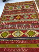 Марокканский ковер арт. BR-38, красно-салатовый