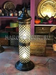 Лампа напольная-торшер в восточном стиле арт.FZ