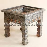 Кофейный резной столик в марокканском стиле арт.TB-80