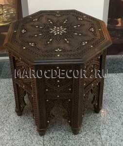 Кофейный восточный столик арт.TB-82, марокдекор