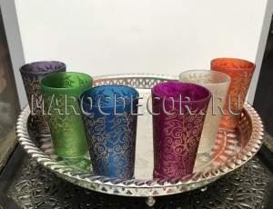 Марокканские стаканчики для чая арт.Verre-7, ручная работа
