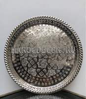 Круглый поднос, серебро арт. PL-13