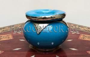 Марокканская керамическая пепельница арт.Сеn-21, МарокДекор