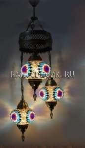 Восточная мозаичная люстра арт.СМ-012Т/3а