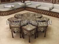 Журнальный столик в комплекте с кофейными столиками арт.MAROC-99