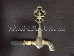 Кран для хамама, бани, сауны арт.KR-05, цвет-латунь