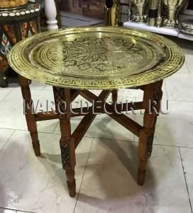Марокканский складной столик арт.ТB-92, ручная работа