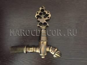 Кран для хамама, бани, сауны арт.KR-03, цвет-бронза