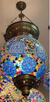 Восточный мозаичный светильник, 30 см арт.HM-030T/R, сине-бирюзовый