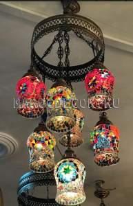 Мозаичная турецкая люстра арт.СHL317, Турция