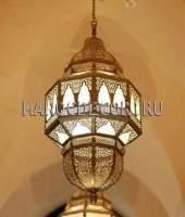 Марокканский подвесной светильник из латуни арт.119