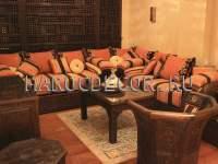 Комплект марокканской мебели дивана и кресел арт.