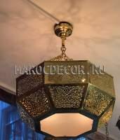Арабская люстра со стеклом фото