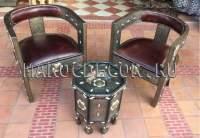 Комплект марокканской мебели 2 кресла и столик арт. MAR-301