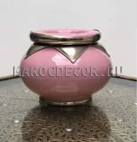 Керамическая марокканская пепельница арт.Сеnt-06, розовая
