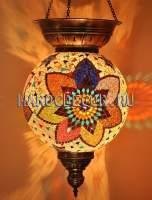 Мозаичный подвесной светильник шар с короной арт.SHM-030/1
