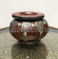 Марокканская керамическая пепельница арт.Сеnt-13