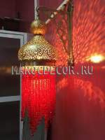 Марокканский настенный светильник(бра) с бисером арт.MAROC-19