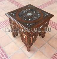 Деревянный резной столик арт.Marrakech-95