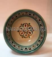 Керамическая пиала с ручной росписью арт. BL-19