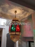 Подвесной светильник с цветным стеклом арт.Maroc-90