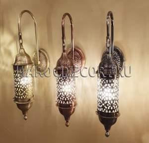Cветильник в марокканском стиле со стеклом арт. TUR-37