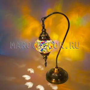 Настольная лампа с мозаичным плафоном арт.TM-016/f