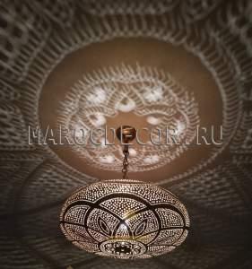 Подвесной латунный светильник, 45 см арт. Lant-124, Марокко