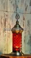 Восточная лампа-фонарь с цветным стеклом арт.TY-113-15