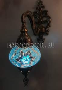Бра из цветной мозаика арт.WM-014/5, голубой цветок