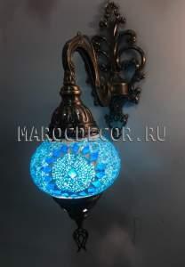 Восточный светильник из мозаики арт.WM-014/4, бирюзовый