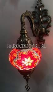 Турецкий мозаичный светильник арт.WM-014/3