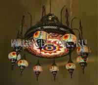 Большая мозаичная люстра с цветными плафонами арт. MKA-NO-2-10